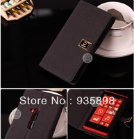 Fashional style white color cell phone aliexpres leather flip lumia 920 case for nokia from shenzhen with free shipping
