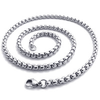 Men jewelry 5mm diameter 18/20/22/24/26/28/30inch Supre Lord of the men 316L stainless steel necklace interlocking chain
