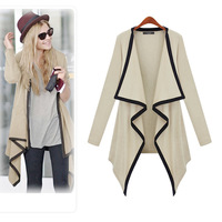 2014 Knitted Long Cardigan Women Fashion New Leisure Irregular Collar Sleeve Jacket Sweater Women knitwear