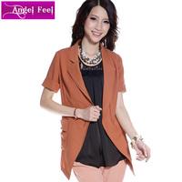 2013 summer women's slim medium-long blazer cape outerwear short-sleeve suit 12024