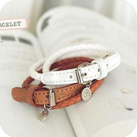 Free to send 5 dollars coupon!  Elegant Fashion spend leather buckle bracelet  men jewelry  bracelets & bangles  A0010
