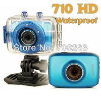2013 New HD 720P Waterproof Sport DVR Digital Camera with 20 meter Water Waterproof Case Portable Video recorder Free Shipping