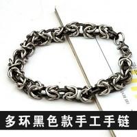 black titanium steel bracelets stainless steel handmade jewelry wholesale 103 women 2015 new