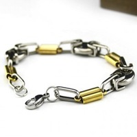 (Minimum order $ 10) Fashion Golden paragraph bracelets titanium stainless steel jewelry wholesale 13 # factory new