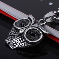 (Minimum order $ 10)  titanium steel castg ow pendant Personality Jewelry punk aternative Wholesale