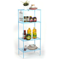 Mini four layer rack bathroom finishing frame shelf spm30105-4bl