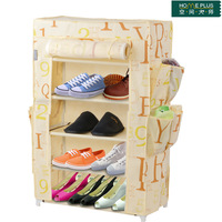 Shoe hanger shoe non-woven simple cotton-made shoes cabinet compounding filling fabric shoe storage