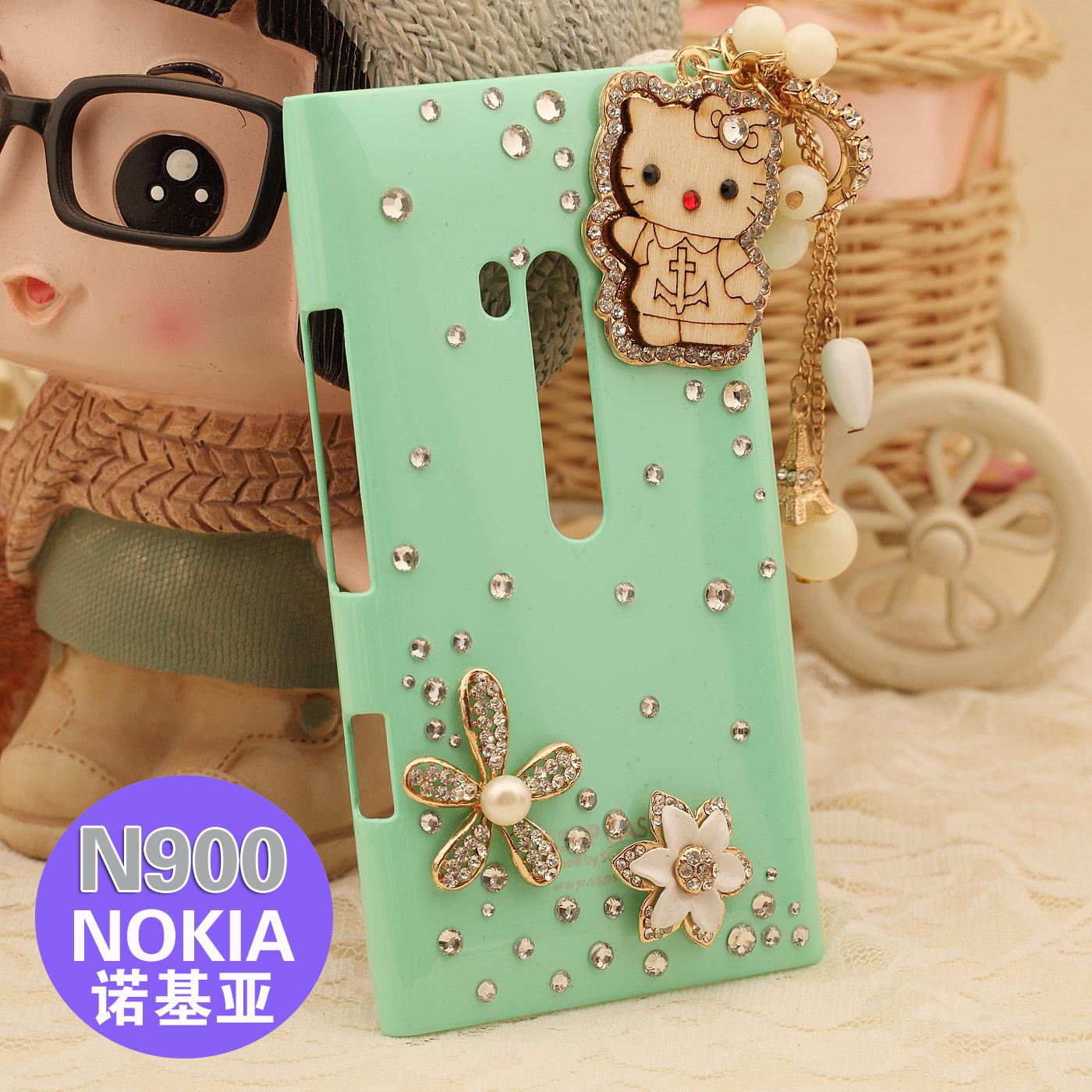 For nokia n900 phone case wool pendant rhinestone for NOKIA n900 protective case mobile phone case shell accessories(China (Mainland))