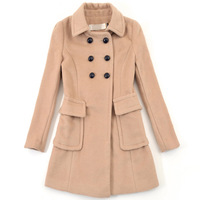 Autumn and winter women new arrival 2013 women's double breasted slim woolen outerwear female overcoat y851