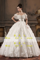 2013 new arrival wedding dress slit neckline bride wedding dress handmade tassel luxury wedding dress