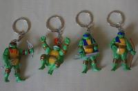 "4 pcs/lot 2-2.4""(5.5-6cm) teenage mutant ninja turtles keychain party supplies figure set toy keychain  free shipping"
