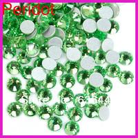 Min order $10 discount 2mm 3mm 4mm 5mm 6mm 7mm light green non-hotfix crystal rhinestones wedding dress rhinestone appliques