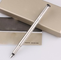 New Arrival Colorful Fountain Pen (STEEL COLOR) Brand School Pens 0.5mm Ink Fountain Pen with Box