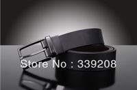Top-quality men's thicken genuine cow leather belt with single pin buckle original factory supply free shipping