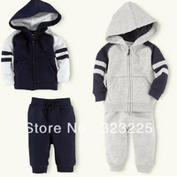 Freeshipping Kids Baby sport Suit Boys Girls Long Sleeve Shirt + Pant Sport Clothes Hoodies Children Clothing 5set/1lot