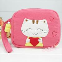 Cloth love cat iphone4 mobile phone bag camera bag personality fashion women's handbag 404