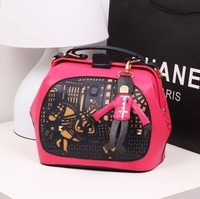 Women handbag  gift bags 2013 women's spring handbag color block one shoulder cross body handbag lovers bags