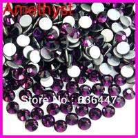 Mix order $10 1440pcs/lot 2mm 3mm 4mm 5mm Cheap Amethyst purple rhinestones flat back swaro rhinestones crystals in bulk