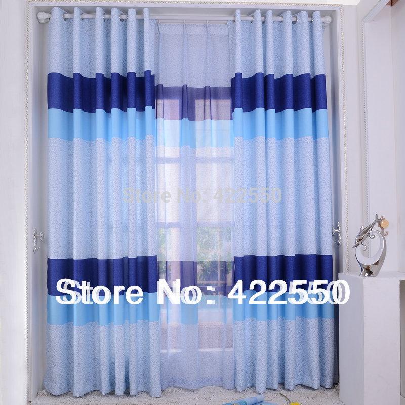 Cortinas blackout azul personalizado quarto quarto minimalista sala infantil moderno para meninos(China (Mainland))