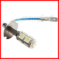 Free shipping new H3 9*5050 SMD White LED Car Signal Lights (DC 12V)