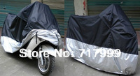 Free Shipping Motorcycle Waterproof Outdoor Motorbike Bike Moped Dust Prevent Rain Cover Size XXXL 265*105*125cm PVC Drop Ship