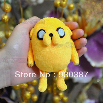 Free Shipping  Adventure Time Finn and Jake Handmade Jake Plush Toy Figures 11*6cm Pendant Keychain Christmas gifts