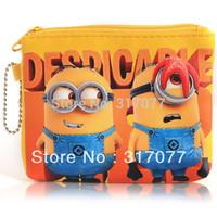 Unique Design Leather Despicable Me 2 Minions Pattern Zipper Design Wallet (Yellow)