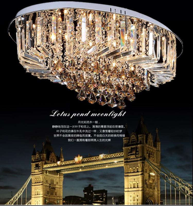 Wohnzimmer Lampe Oval Fhrte Kristall Deckenleuchten Luxus Moderne