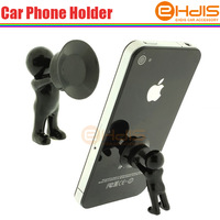 small cheap man shape mobile phone holder with soft silicone material and size 2.5x3.8cm