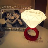 Wholesale  Led nights  LED  lamp Diamond Ring Lamp Romantic Atmosphere lights  bedroom lamp novelty lighting Valentines Gift