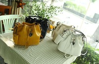 FREE SHIPPING2013 bucket bag drawstring bags PU women's fashion tassel shoulder bag handbag