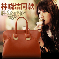 free shipping Female fashion women's handbag magnetic buckle handbag