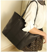 free shipping 2013 women's crocodile pattern handbag vintage handbag big bags
