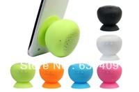 2013 Hot Sale Mini Mushroom Bluetooth Speaker Wireless Hands free Waterproof Silicone Suction Free Shopping&Wholesales
