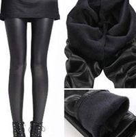 2013 New Year Fashion Sexy Ladies Women Warm Winter Skinny Slim Leggings Stretch Pants Thick Footless elastic pu pants
