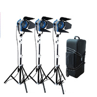 2014 New Arrival Special Offer 650w*3pcs Tungsten Spotlight Studio Video As Arri Spot Light+case+air Stands
