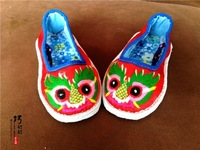Infant handmade embroidery toddler shoes sandals soft sole outsole multi-layered