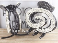 Wholesale High Quality 2014New Fashion Crystal Acrylic Hair Claws for Women LadiesTrendy Hair Jewelry Free Shipping