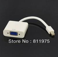 Free shippng 1pcs Thunderbolt Port Mini DisplayPort to VGA Adapter TV AV Cable For Apple Macbook Air Pro White