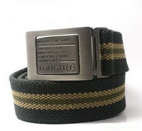 New sides flip buckle canvas belt men belt thickening leisure wild personality influx of people must