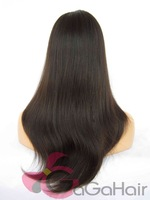 Free Shipping Malaysian wigs!  Virgin Silky Straight  Lace Front Wigs Human Hair 18'' Natural Color and Hairline Bleached Knots