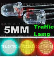 Epistar 5MM traffic light Yellow led diode 590-595nm round DIP LED 2.0-2.5V 5000-10000MCD