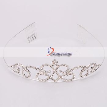 Free Shipping + Wholesale 5pcs/lot Stylish Rhinestone Crown Headband  Ship from USA-S01928