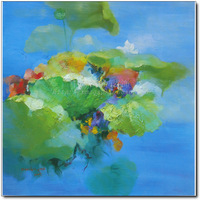 Jr-8166 distribution box decorative painting frameless painting flowers oil painting