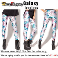 Free shipping Wholesale 2013 New Women Super Elastic Digital Print Pants Leggings Novelty Leggings Best Quality