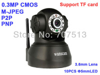 Wifi Rotate IR Security Network IP Camera TF Micro SD Card Slot IP camera
