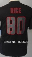 Free shipping - 80 Jerry Rice Youth Impact Limited Black Football Jersey , Embroidery and Sewing , mix order