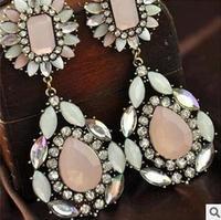 (Min order $10) 2014 wholesale long fashion statement flower bear earring  for women Factory Price