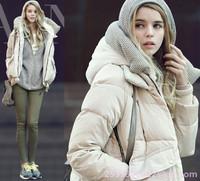 Free shipping  Women Classic NEW 100% DOWN parka hood  Jacket Coat High Collar Outwear
