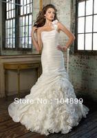 Hot sale wedding  Dress Style 1218 Taffeta and Organza  Detachable one-shoulder strap